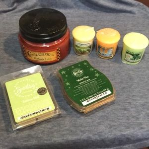 Yankee Candle, Candleberry, Scentsy Bar bundle!